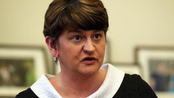 Arlene Foster has been under intense pressure over an eco-friendly initiative that has left Stormont facing an overspend bill of around £500 million