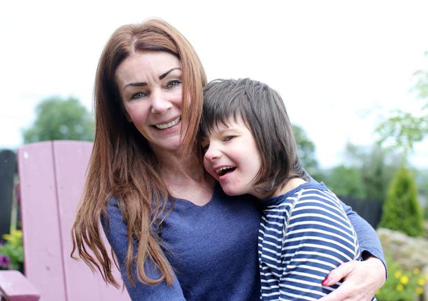 Charlotte Caldwell with son Billy, who has a severe form of epilepsy