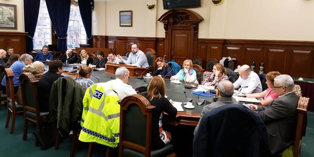 Meeting was held at Belfast City Hall yesterday to discuss the increasing number of drug related incidents here