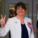 Arlene Foster celebrates after being returned as an MLA in last May's Assembly elections