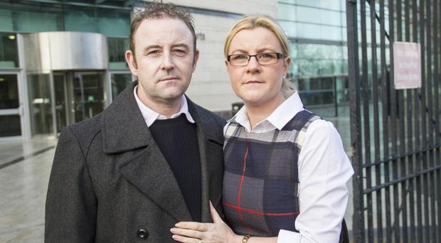 David Kenny and Lee-Maria Hughes at the Inquest into the death of their sister Catherine Kenny at Belfast Laganside Court