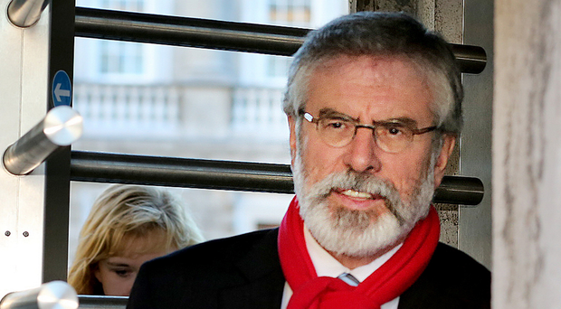 Sinn Fein party leader Gerry Adams