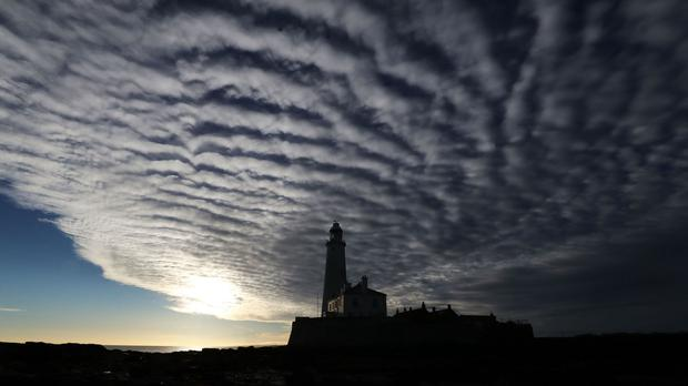 Clouds in Whitley Bay, as an Arctic cold spell blowing in from the north looks set to cause temperatures to tumble.