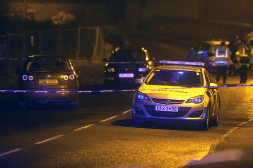 The scene in the village of Liscolman, where a schoolboy was struck by a car