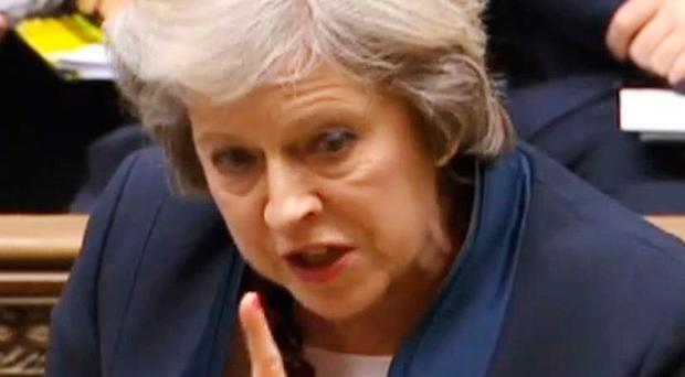 Prime Minister Theresa May spoke at Westminster