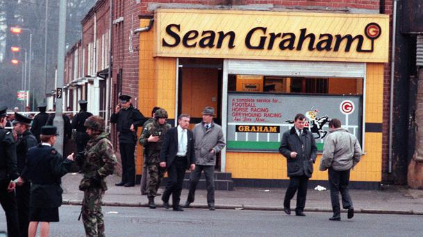 The scene of the Sean Graham's bookmakers massacre in February, 1992