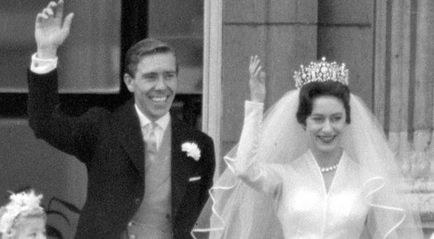 Lord Snowdon and Princess Margaret on their wedding day in May, 1960