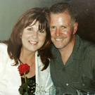 Kate Carroll with her husband Stephen, who was murdered by dissidents