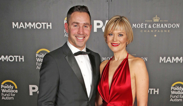 Former Ulster star Paddy Wallace with wife Tina in happier times