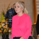 Michelle O'Neill went for a more eye-catching colour