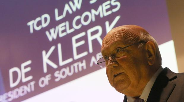 FW de Klerk said he would have voted to stay in the European Union (EU) if he was British