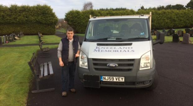 Coleraine-based stonemason Tony Kneeland offered his services for free