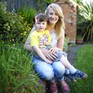 Belfast mum Lindsay Robinson with her son Reuben