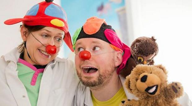 Patrick Sanders brought smiles to children in hospital as Dr Jumbles