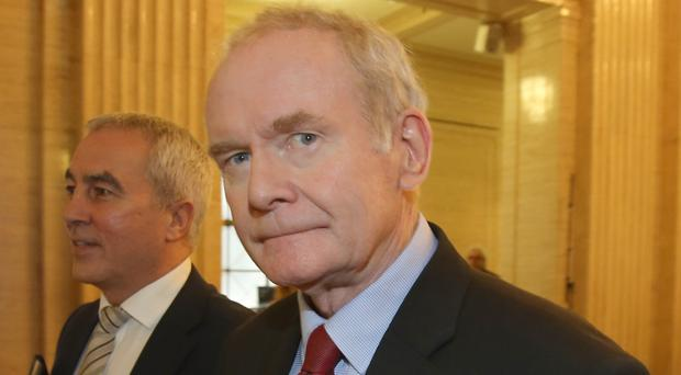 Martin McGuinness after Sinn Fein declined to re-nominate a Stormont deputy first minister