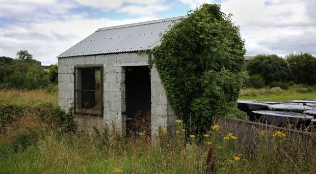 An abandoned border guard hut on the northern side of the border between Northern Ireland and the Republic of Ireland
