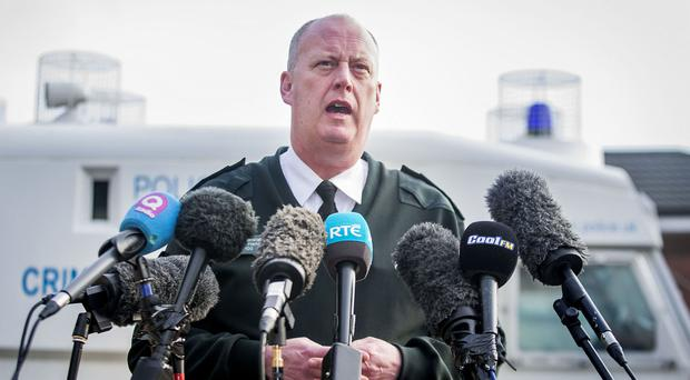 Police Service of Northern Ireland Chief Constable George Hamilton said the officer is in 'good spirits'