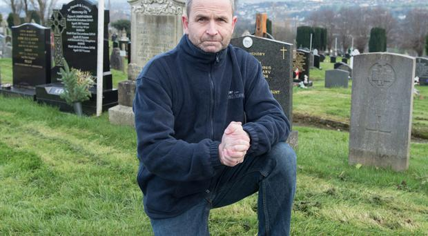 Seamus Breslin of Historic Headstones in Derry City Cemetery