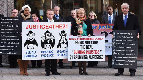 Some of the families of the victims of the Birmingham pub bombings