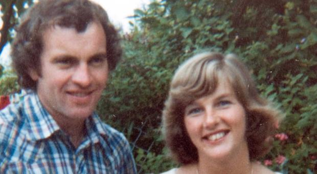 IRA victim Joanne Mathers with her husband Lowry and their son Shane