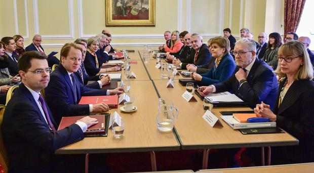 Prime Minister Theresa May chairs a Joint Ministerial Committee at Cardiff City Hall
