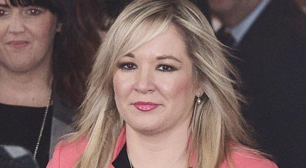 Sinn Fein leader Michelle O'Neill said she is 'perfectly content with my position'