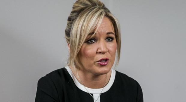 Michelle O'Neill, the new Sinn Fein leader at Stormont, said she would not extend a similar invitation to US president Donald Trump