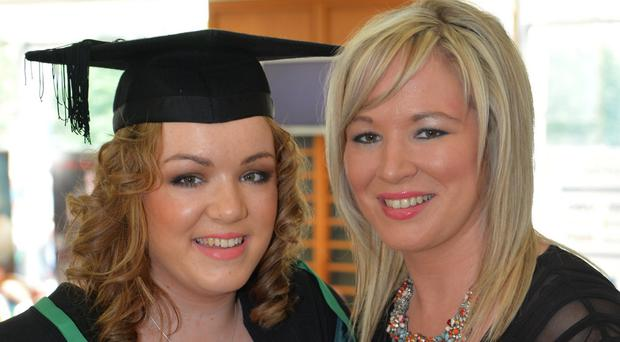 Michelle O'Neill with her daughter Saoirse