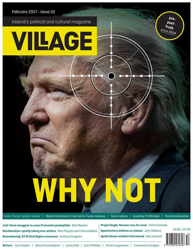 The controversial cover of Irish magazine, Village