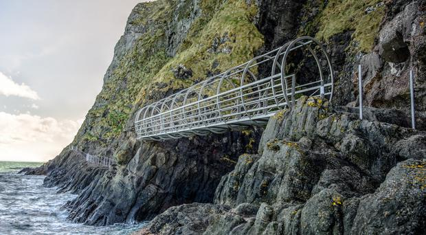 The spectacular Gobbins cliff path has been repaired