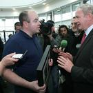 David Kelly confronting Martin McGuinness in 2011