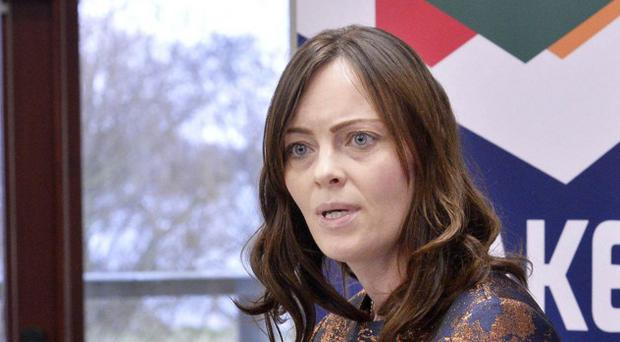 Nicola Mallon at the SDLP election launch