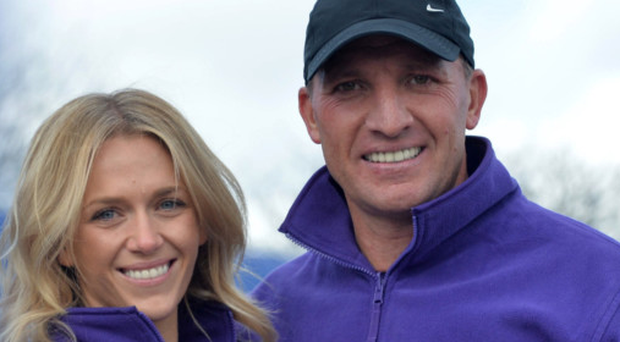 Brendan Rodgers and fiancee Charlotte Searle