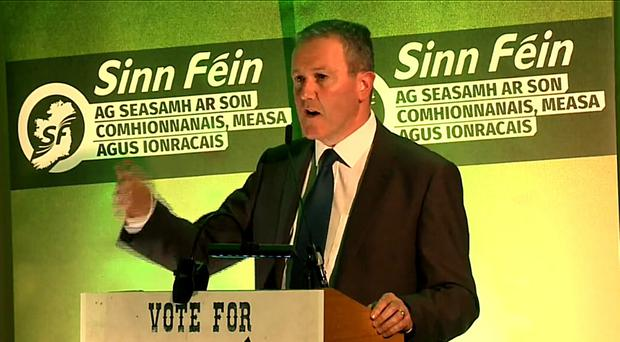 Conor Murphy speaks at the weekend