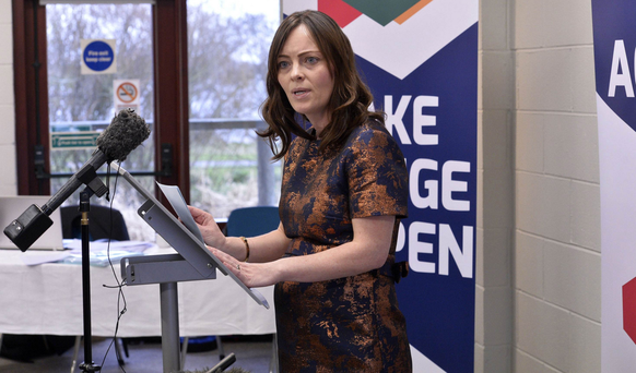Nichola Mallon at the SDLP election launch last week