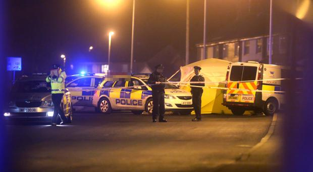 Police at the scene of the fatal road accident on the Ramoan Road in Ballycastle, in which Anne Malone died yesterday
