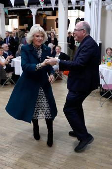 Dancing with Arthur Edwards at the event