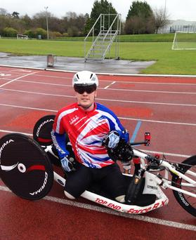 Lance Corporal Bryan Phillips cycling