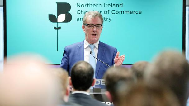 Ulster Unionist Party leader Mike Nesbitt speaks at the Northern Ireland Chamber's 5 Leaders, 5 Days series event in Belfast (Press Eye/PA)