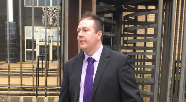 Jonathan McNeill leaves Antrim courthouse