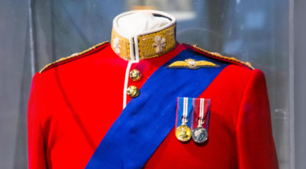 The tunic that didn't make it to Prince William's wedding, on show at the North Down Museum