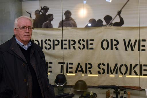 John Kelly, whose brother Michael died on Bloody Sunday, works in the museum