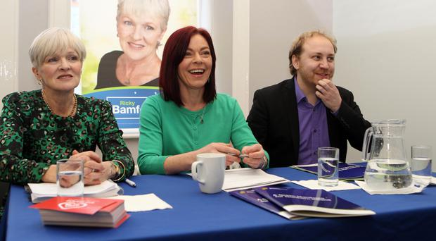 Ricky Bamford, Claire Bailey and Steven Agnew launch the Green manifesto