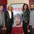 Producer Brendan Byrne, Joanne McBrien, Deirdre Heenan and director Dan Gordon at the premiere of George Best: All By Himself