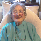 Peggy Dunbar, celebrating her 107th birthday last year