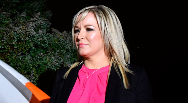 Sinn Fein Northern Ireland leader Michelle O'Neill at the Clonoe vigil in memory of four IRA men on Thursday night