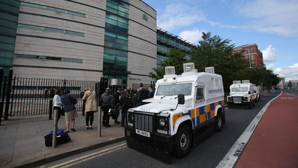 The men will appear at Belfast Magistrates' Court