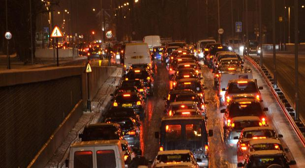 Researchers found Belfast had the worst congestion in the UK