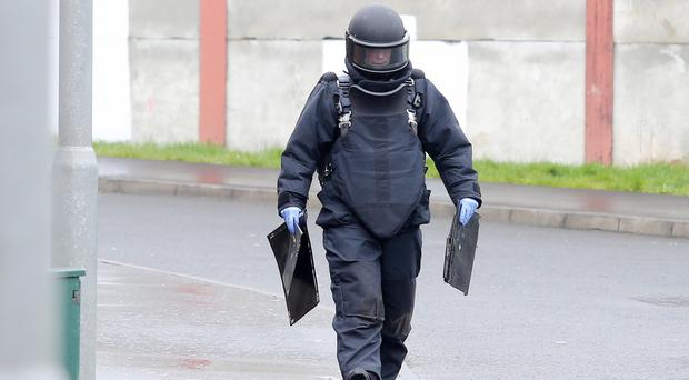 An ammunition technical officer at Conway Street yesterday