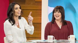 Christine chats to one of the show's presenters, Coleen Nolan